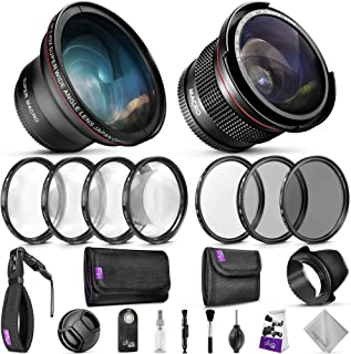 52MM Professional Accessory Kit for Nikon DSLR Bundle with Altura Photo Fisheye and Wide Angle Lenses