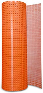 JJ Care Uncoupling Membrane (3.3 ft x 98.5 ft) underlayment 323 Square Feet, Tile Underlayment Mat, Waterproofing, Anti-Fracture, Crack Isolation Membrane (1/8 inch Thick) Orange
