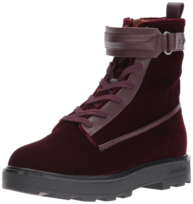 健康範囲雪だるまを作る[Calvin Klein] Women's Vanora Combat Boot, Burgundy, Size 8.5