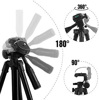 Polarduck Phone Tripod, Tripod for iPhone 42 Inch 106cm Lightweight Tripod Stand for iPhone/Samsung/Huawei Cell Phone...