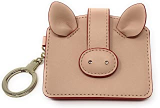 Kate Spade Year of the Pig Card Case Warm Vellum Key Fob