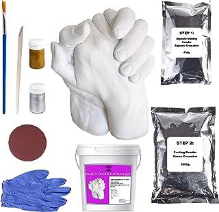 Art King Kit Calco Mani Confezione XL   Impronta Mani e Piedi 3D per Adulti e Bambini   Comprende Accessori e Istruzioni i...