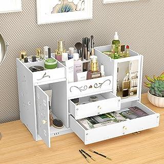 Organiseur de bureau pour maquillage - Tiroirs - Boîte de rangement pour maquillage - Pour chambre à coucher, salle de bain
