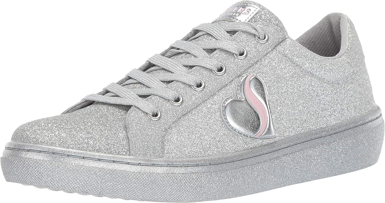 Skechers Womens goldie - All Over Fine Glitter Lace Up Sneaker Sneaker
