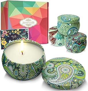 DIY OrganicZ Scented Candle Gift Set – 4.4 Oz | 4 Pure Fragrances (Vanilla, Lavender, Jasmine and Gardenia) | Pure Essenti...