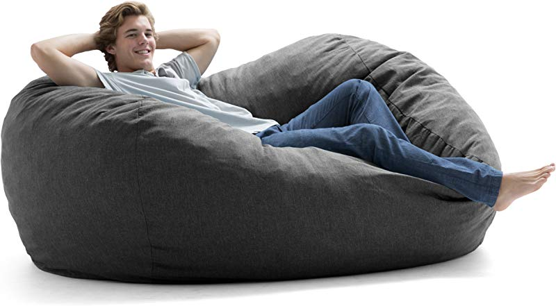 Big Joe 0000477 XL Fuf Gray Union Foam Filled Bean Bag