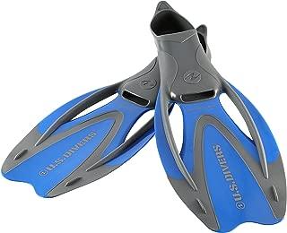U.S. Divers Proflex II Snorkel Fins (Electric Blue). Adult Dual-Composite Blade Snorkeling Fins (Size X-Large. Range 11.5-13)