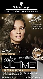 Schwarzkopf Color Ultime Permanent Hair Color Cream, 4.82 Dark Mahogany Brown (Packaging May Vary)