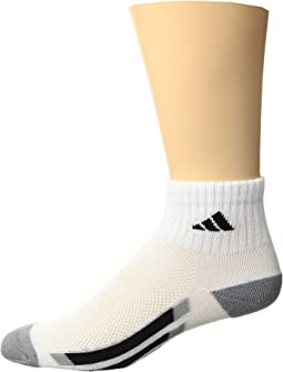 adidas Kids - Vertical Stripe Quarter Socks 6-Pack (Toddler/Little Kid/Big Kid/Adult)