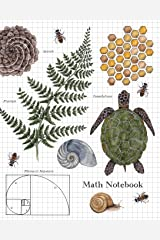 Math Notebook: 1/2 Inch Squares Graph Paper Composition Notebook for Students Paperback