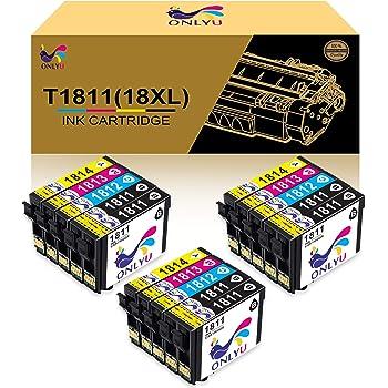 Hicorch Cartucce 18 XL Compatibile con Epson 18 18XL per Epson Expression Home XP-202 XP-205 XP-212 XP-215 XP-302 XP-305 XP-312 XP-315 XP-402 XP-405 XP-412 XP-415 6 Nero,3 Ciano,3 Magenta,3 Giallo