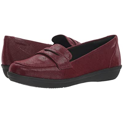 Clarks Ayla Form (Burgundy Synthetic Interest) Women