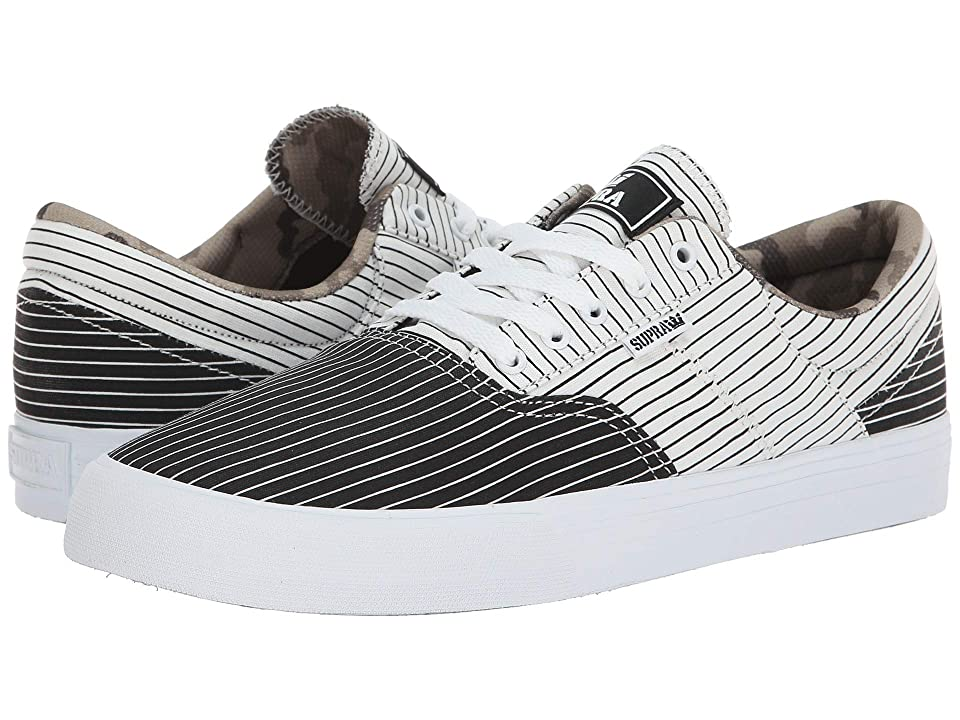 Supra Cobalt (Black/White Stripe/White) Men