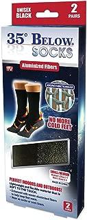 35 Below Ultimate Comfort Socks | Aluminized Thread, Soft Nylon Knit Warming Socks | 2 Pairs in Black | Size Small/Medium
