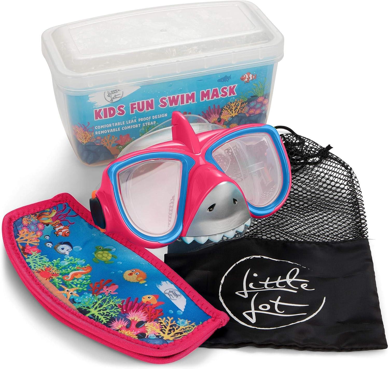 Little Lot 公式ショップ Goggles Kids Swimming Mas 授与 Shark 6-14 Snorkel