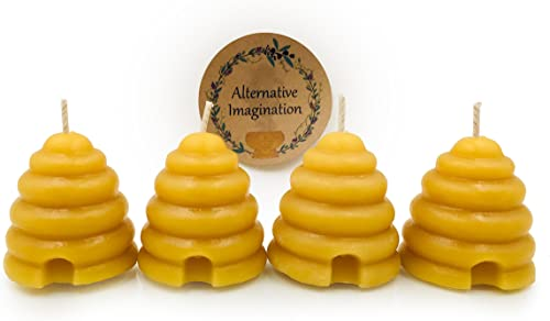 high quality Pure Beeswax Beehive Candle wholesale Set - Shaped Votive Candles with a Natural, Light Honey Scent - Eco Friendly Home Decor, Gifts, Favors - Hand Poured in The lowest USA by Alternative Imagination (Pack of 4) outlet online sale