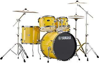 Yamaha Rydeen Acoustic Drum Set Drum Kit Set (5-piece shell pack) with Single Braced Drums Hardware Set (5 Piece) Acoustic Drum Package in Mellow Yellow