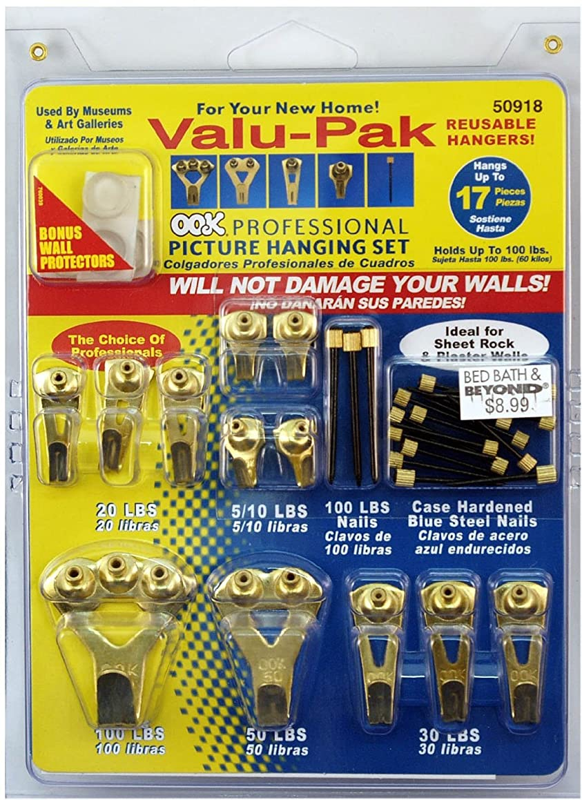 OOK 50918 Professional Picture Hanging Value Pieces Kit (2 Pack)