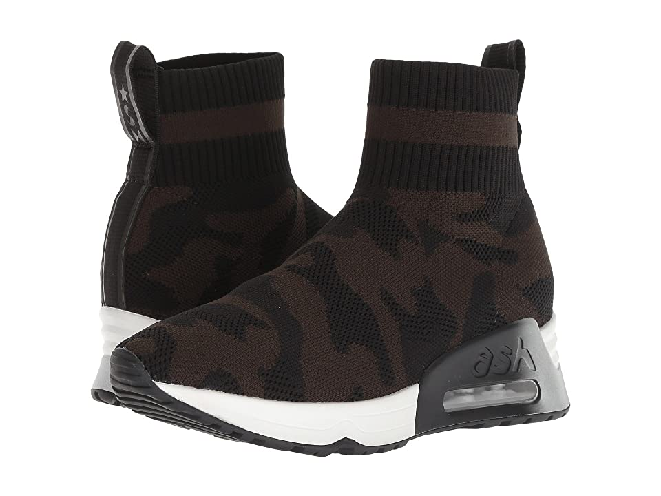 ASH Lulu Camo (Black Knit/Military) Women