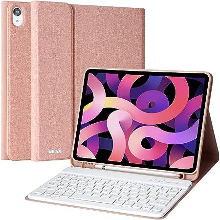 Teclado para iPad Air 4 10.9 2020, Funda para iPad Air 4 Generación 2020/iPad 10.9/iPad Pro 11 2018 con Teclado Español Bluetooth Inalámbrico, y ...