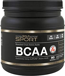 California Gold Nutrition, BCAA, AjiPure, Branched Chain Amino Acids Powder, 16 oz (454 g), Milk-Free, Egg-Free, Fish Free...