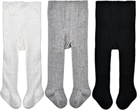 Epeius Baby Girls' Seamless Cable Knit Tights (Pack of 3)