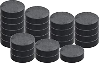 """RAM-PRO 25-Piece Powerful Magnetic Round Ferrite Magnet Discs with ¼"""" Dia. Holes (3/4"""