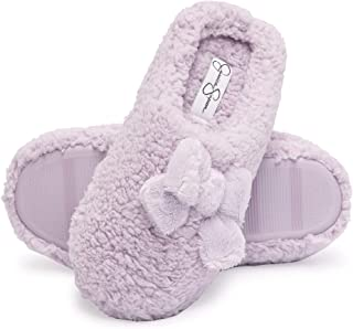 Jessica Simpson Womens Plush Marshmallow Slide On House Slipper Clog with Memory Foam