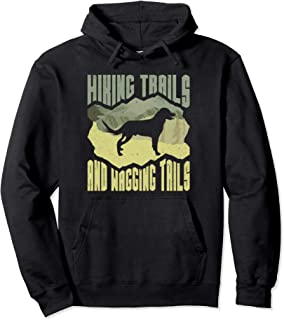 Dog Hiking Trails and Wagging Tails Hike Camping Hoodie