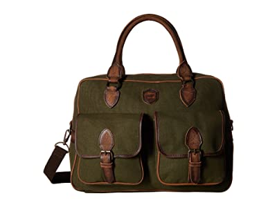 STS Ranchwear The Foreman Weekender (Military Green Canvas) Weekender/Overnight Luggage