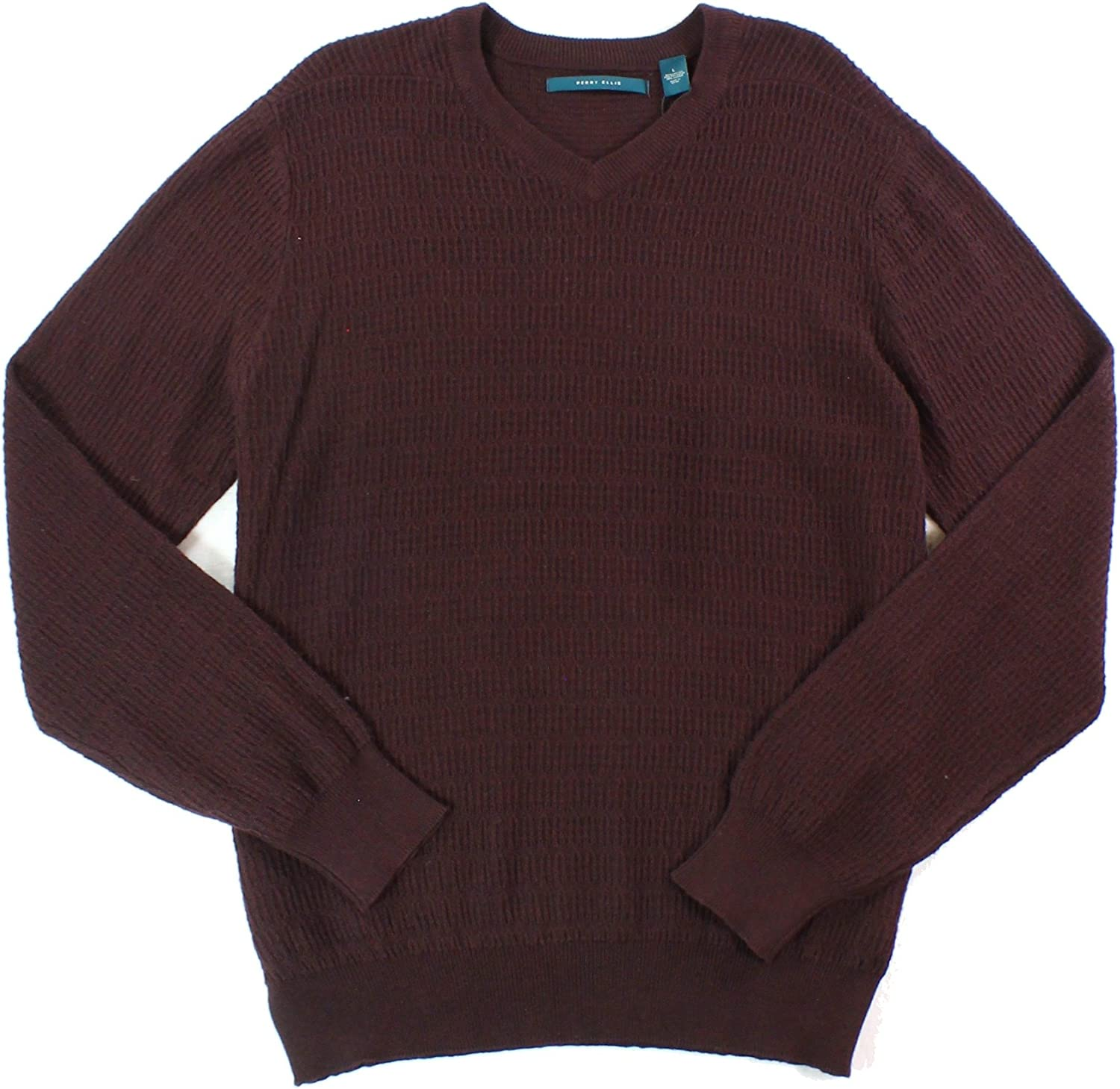 Perry Ellis Mens Sweater Detroit Mall Pullover Loop-Pattern Max 81% OFF