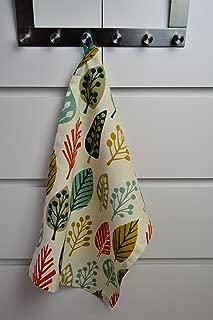 McAlister Magda Designer Decor Kitchen Tea Towel Dish Cloth Set of 2   Terracotta Burnt Orange 100% Cotton   Modern Scandinavian Minimalist Accent