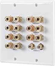 Long-way 7.1/7.2 Home Theater Speaker Wall Plate Gold Plated Copper Banana Binding Post Coupler Type for Subwoofer