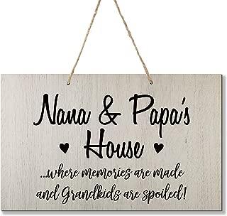 LifeSong Milestones Grandparent Loving Memories Home Decor Gift Plaque for Grandma Grandpa Grandparents Granddad Papa Nana 8 x 12 (Nana and Papa White)