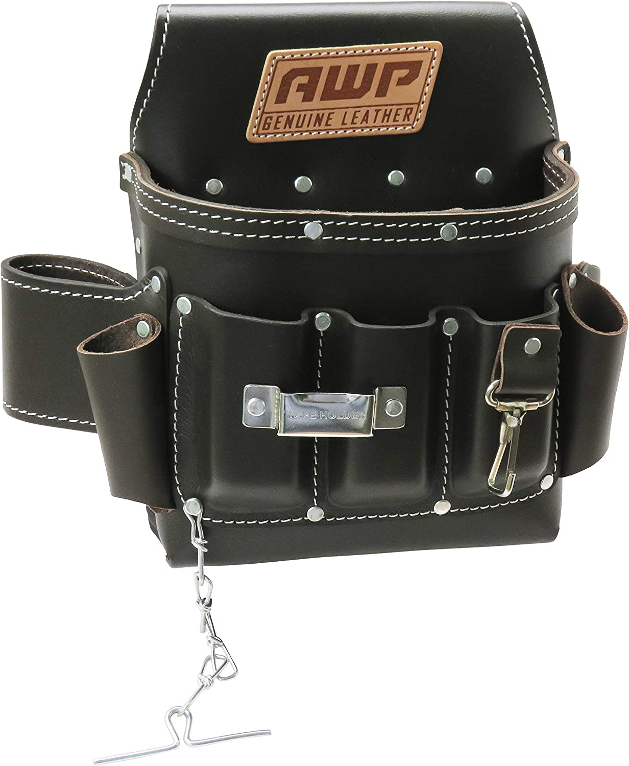 AWP Oil-Tan Leather Electrician Tool Pouch, 1LL-526-2 - -