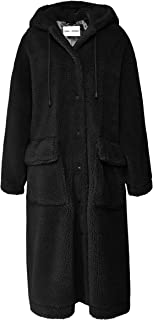 Stand Women's Jessica Oversized Teddy Coat Black