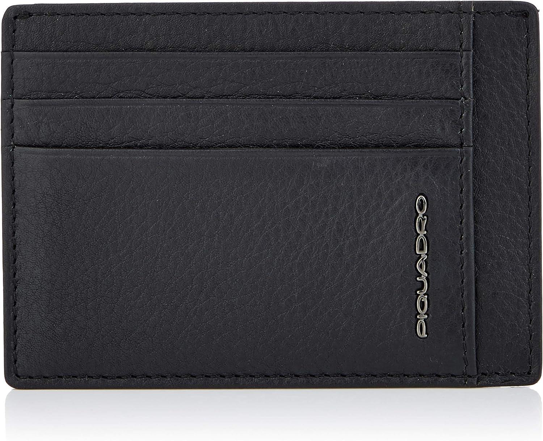 Piquadro Men's Credit Card Case, Black (Nero)