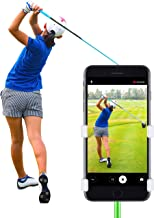 SelfieGOLF Golf Swing Phone Holder - Selfie Putting Training Aids - Golf Analyzer Accessories | Winner of The PGA Best Product | Works with Any Smart Phone and Alignment Stick