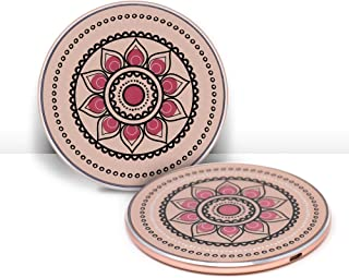 Moxyo Wireless Charger, Stylish Qi-Certified Wireless Charging Pad Compatible with iPhone Xs/Xs Max/Xr/X/8 Plus/8, Samsung Galaxy S9/S9+/S8/S8+/S7 and More (Rose Gold w/Floral Design)