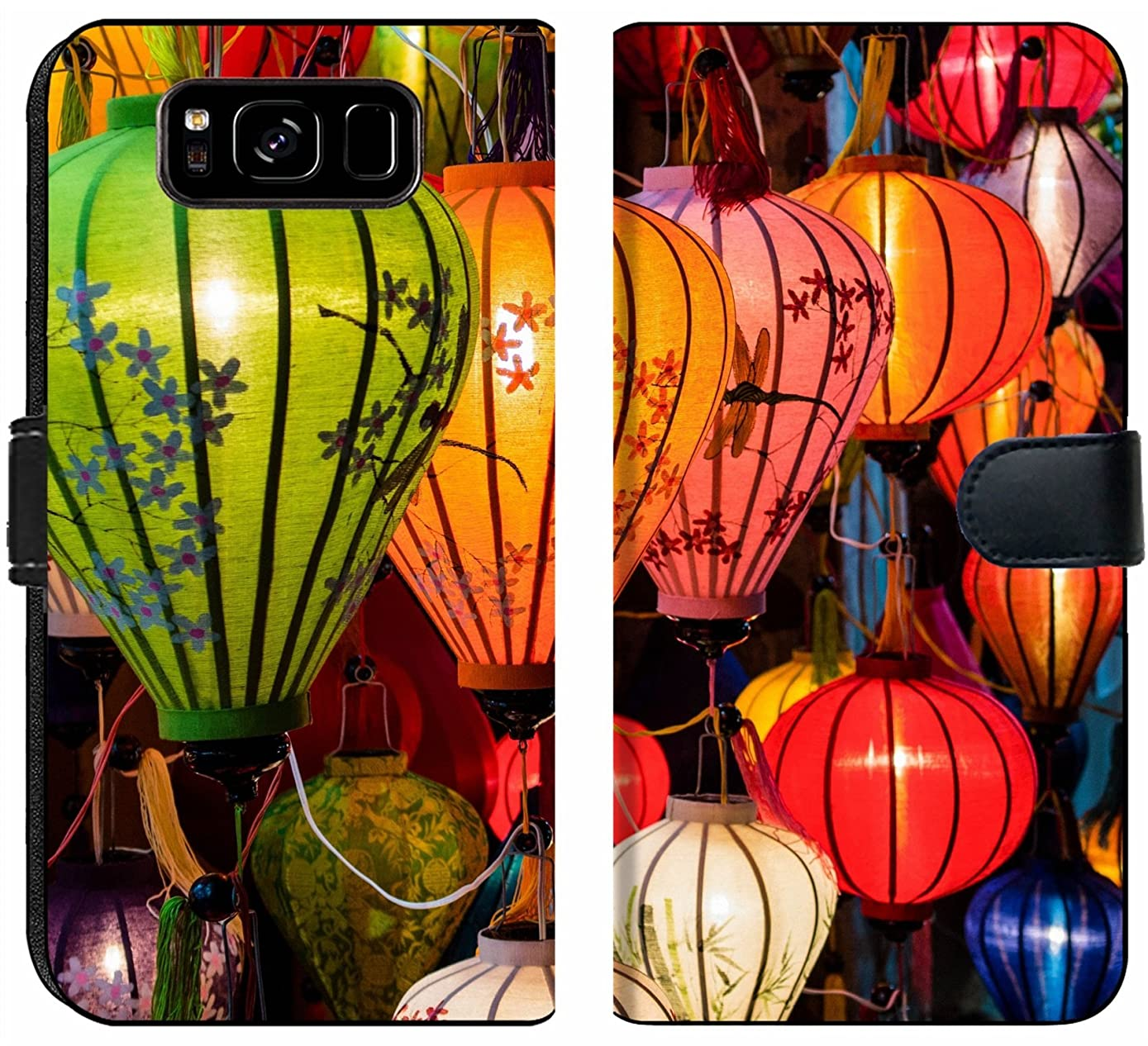 Samsung Galaxy S8 Flip Fabric Wallet Case Image ID: 31089698 Traditional Lamps in Old Town Hoi an Central Vietnam