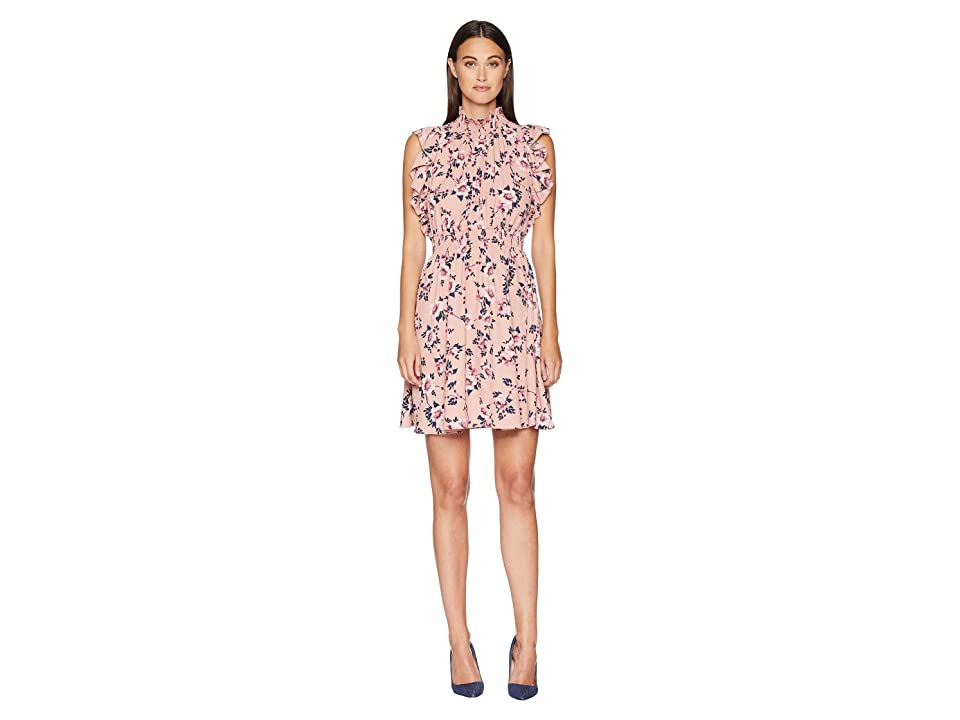 Kate Spade New York Out West Prairie Rose Flutter Dress (Faded Peony) Women