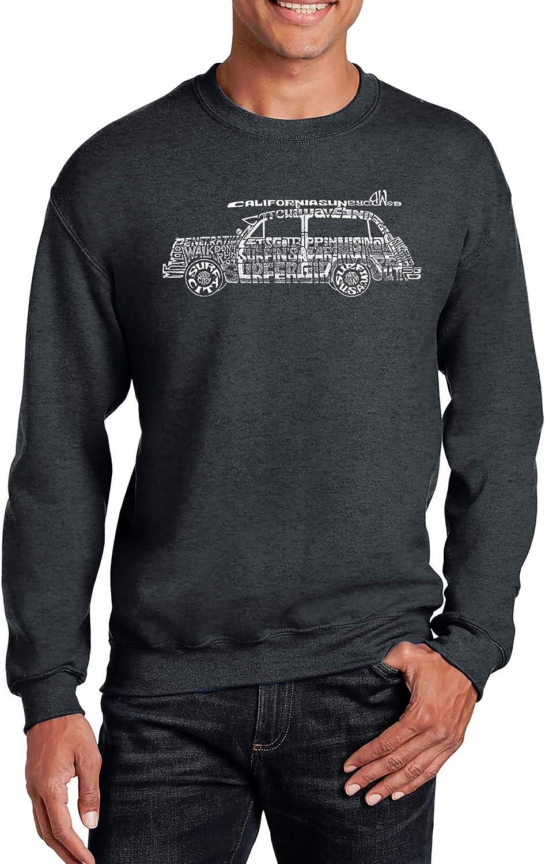 LA Low price Pop Art Men's Word Crewneck Sweatshirt - Classic Surf Son Mail order