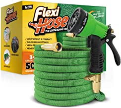 "Flexi Hose Upgraded Expandable Garden Hose Extra Strength, 3/4"" Solid Brass Fittings.."
