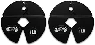 Micro Gainz 1LB Dumbbell Fractional Weight Plates 2 or 4 Pack (Choose a Set)- Designed for Dumbbell Training and Micro Loading, Made in USA