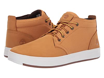 Timberland Davis Square Leather and Fabric Chukka (Wheat Nubuck) Men