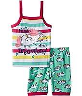 Roly Poly Unicorns Sleeveless Pajama Set (Toddler/Little Kids/Big Kids)
