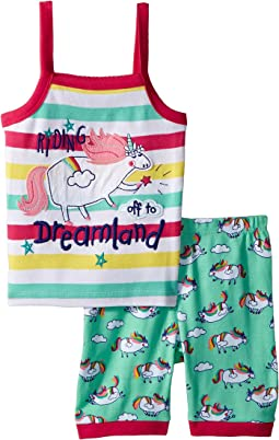 Roly Poly Unicorns Sleeveless Pajama Set (Toddler/Little Kids/Big Kids)