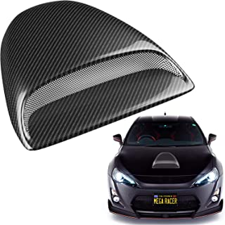 Mega Racer Carbon Fiber Automotive Hood Scoops for Cars - JDM Racing Style Front Decorative Air Vents with Aero Dynamic Ai...