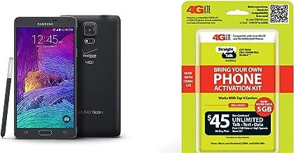 Straight Talk Samsung Galaxy Note 4 inBlackin Runs on Verizons 4g Xlte Towers on Straight Talks $45 Unlimited Plan (Renewed)