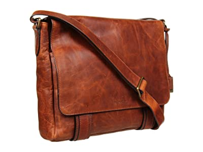 Frye Logan Messenger (Cognac Antique Pull Up) Messenger Bags